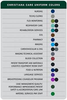 Scrub Color Chart New Attire Distinguishes Christiana Care Guest Services