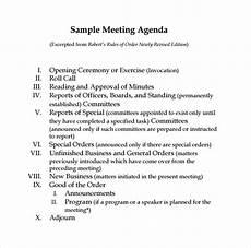 Board Meeting Templates Free Free 11 Sample Board Meeting Agenda Templates In Pdf Ms