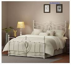 ashdyn home antique white iron metal bed
