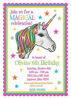 Birthday Invitaiton Unicorn Invitations Unicorn Birthday Party Invitations