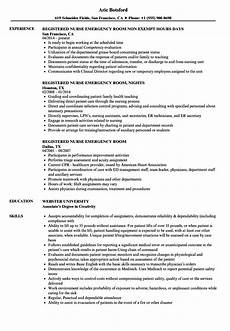 Emergency Room Rn Resumes Registered Nurse Emergency Room Resume Samples Velvet Jobs