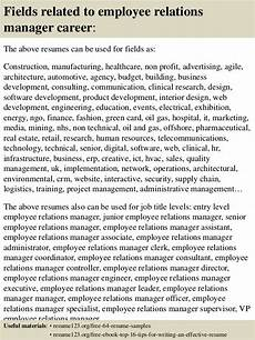 Employee Relations Manager Resume Samples Top 8 Employee Relations Manager Resume Samples