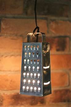 Cheese Grater Kitchen Lights Diy Pendant Lights From Unexpected Items Wow Goodwill