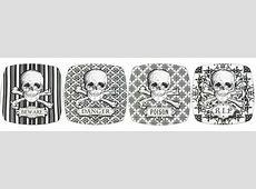 Discontinued 222 Fifth Halloween Skulls Dinnerware