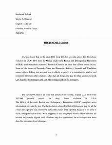 Essays On Crime Juvenile Crime Essay
