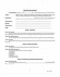 Construction Contract Free Download Simple Construction Contract Free Download