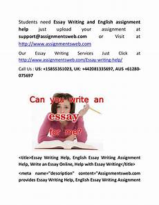 English Essay Writing Help Essay Writing Help English Essay Writing Assignment Help