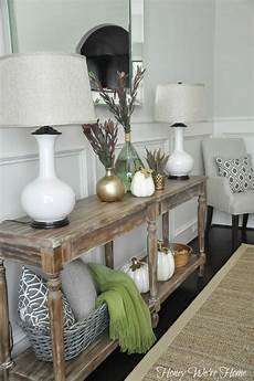 Sofa Table Decor 3d Image by Honey We Re Home Fall Decor Console Styling