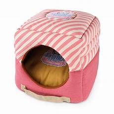 catidea comfy cat bed in pink 187 nekojam