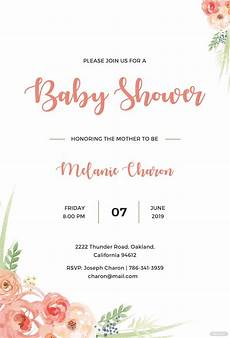 Baby Shower Invites Templates Word Free Baby Shower Invitation Template In Psd Ms Word