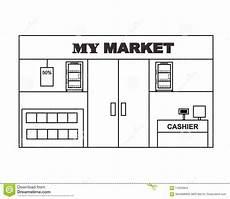 Car Showroom Design Standards Pdf Mini Market Layout Design Vector Stock Illustration