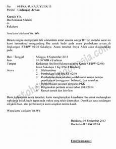 contoh undangan arisan rw contoh surat undangan arisan rt surat undangan