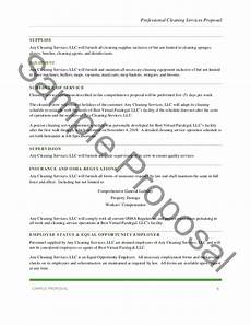 Cleaning Business Proposal Sample Professional Cleaning Services Proposal