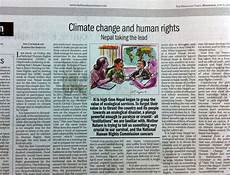 The Himalayan Times Article Taking The Lead On Climate Change And Human Rights In