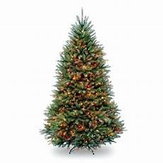 Home Depot Trees With Lights National Tree Company 7 5 Ft Pre Lit Dunhill Fir Hinged