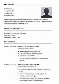 Easy Resume Template Word 70 Basic Resume Templates Pdf Doc Psd Free