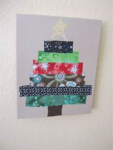 tree out of fabric preschool crafts