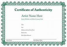 Make A Certificate Of Authenticity Certificate Of Authenticity Template Sanjonmotel