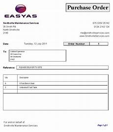 Sample Copy Of Purchase Order Purchase Order Sample Using Our Set Purchase Order