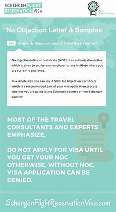 Sample Of No Objection Letter From Employer No Objection Letter For Visa Application And Expert Advise