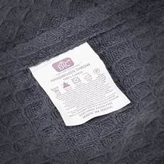 ehc chunky cotton waffle blanket throw for sofa charcoal