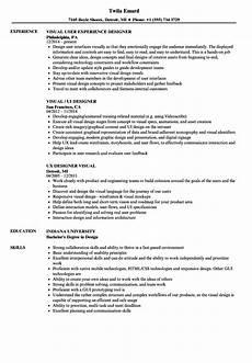 Visual Designer Resume Sample Designer Visual Designer Resume Samples Velvet Jobs
