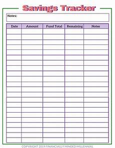 Money Saving Tracker Free Printable Savings Tracker For Easily Reaching Your Goals