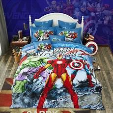 marvel bedding set cotton printed bed sheet set