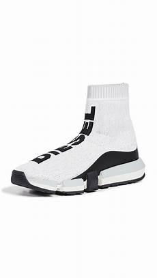 padola web diesel padola mid sock sneakers in white modesens