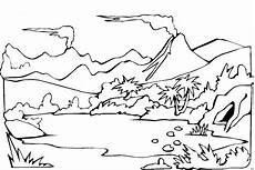 alte landschaft ausmalbild malvorlage phantasie