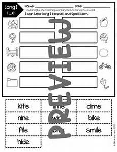 Long Pocket Chart Cvce Long I Words Pocket Chart Phonics By All The
