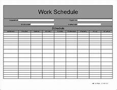 Work Schedual Free Basic Weekly Work Schedule From Formville