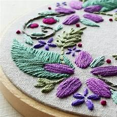 floral wreath beginner embroidery pattern pdf namaste
