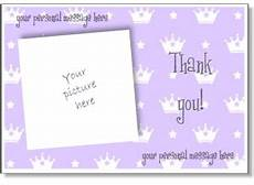 thank you card template with photo to print free personalized thank you card print a thank you greeting