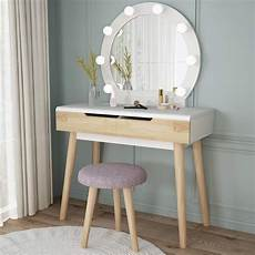 shop 1easylife vanity set with lighted mirror wood makeup