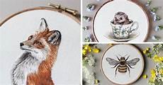 embroidery animals i transform pets into embroidered portraits bored panda