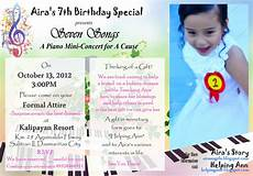 Sample 7th Birthday Invitation Sample Invitation For 7th Birthday