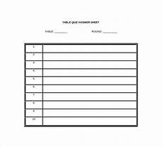 Question And Answer Sheet Template 10 Printable Answer Sheet Templates Samples Amp Examples