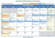 December 2020 Calendar With Holidays Print Friendly December 2020 Us Calendar For Printing