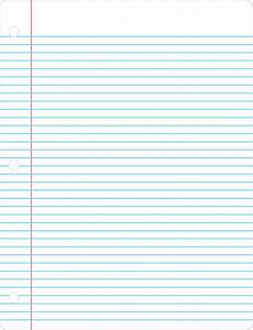 Blank Line Paper Printable Lined Paper Simple Blue And Red Colored Lined