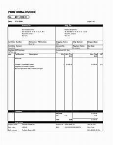 Invoice Sample Xls Gst Proforma Invoice Template Xls Free India Sample Simple