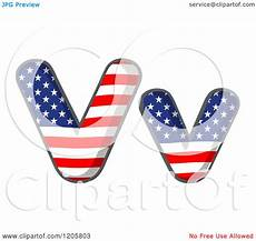 American Flag Watermarks Cartoon Of An American Flag Stars And Stripes Letter V