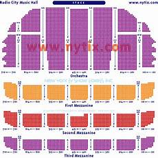 Radio City Theater Seating Chart Radio City New York Radio City Radio City Music Hall City