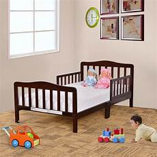 goplus beds wood bedroom furniture with safety rails