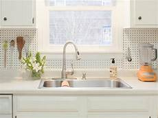 kitchen pegboard ideas how to install a pegboard backsplash how tos diy