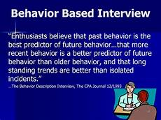 What Is A Behavioral Based Interview Ppt Interviewing Skills Powerpoint Presentation Id 735227