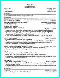 College Resume Examples For High School Seniors The Perfect College Resume Template To Get A Job