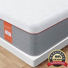 mattress inofia size gel memory foam hybrid