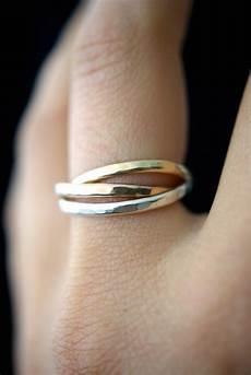 Interlocking Ring Interlocking Rings Sterling Silver 14k Gold Fill 14k