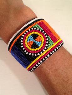 beaded leather maasai bracelet via etsy